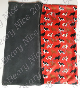 Red Cavalier Minky Blanket