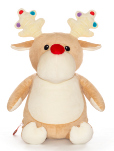 Taupe Reindeer Cubbie with Lights on Antlers