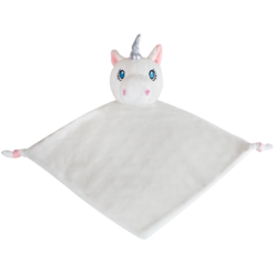 White Unicorn Cubbie Blanket