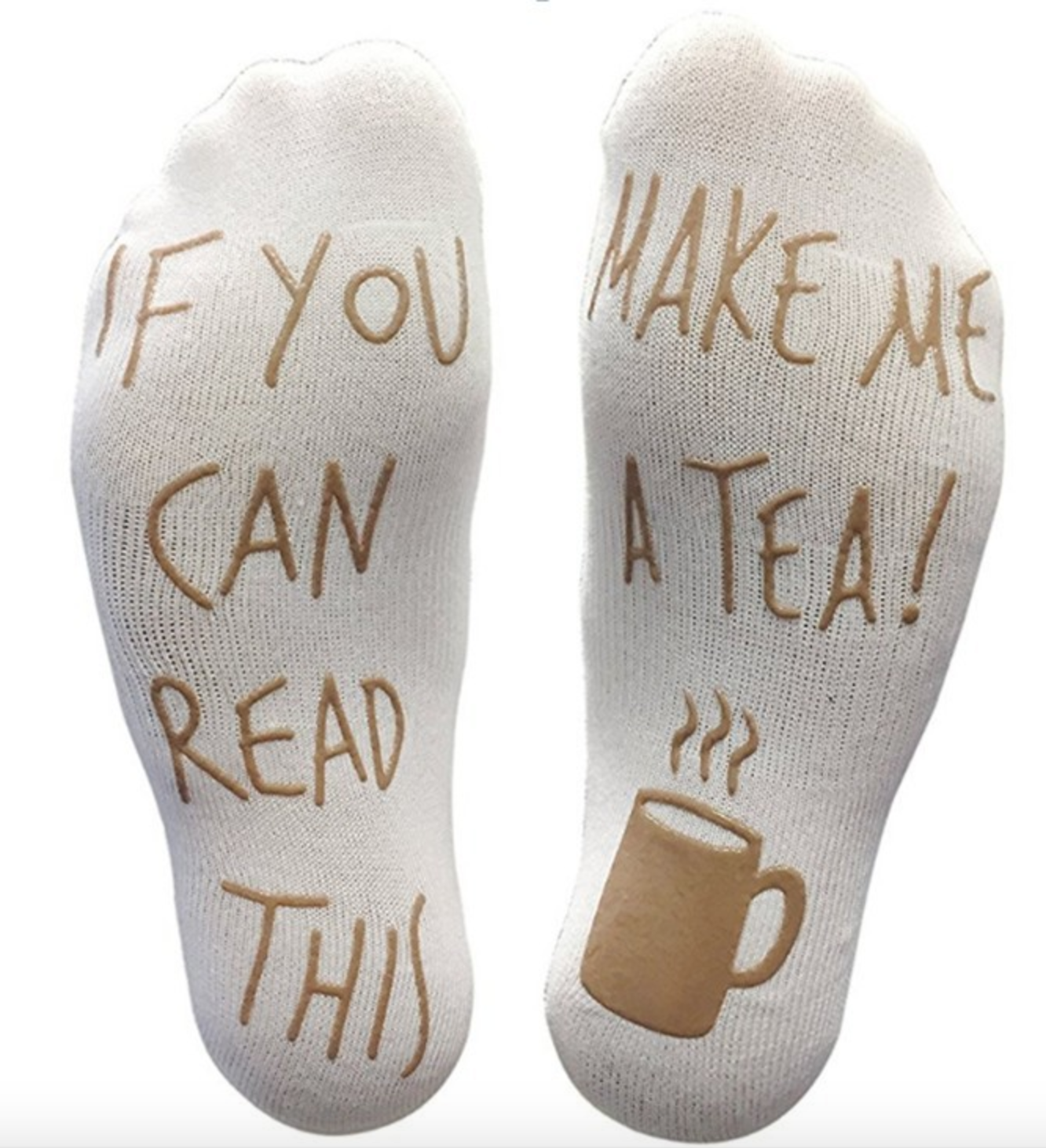 Women's Funny Socks 'If You Can Read This Make Me Tea' by  Wrap My Phone