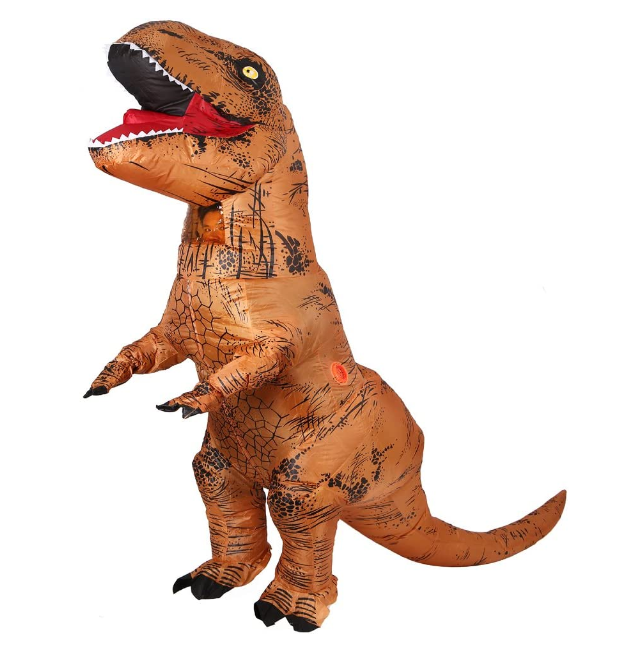 Inflatable Dinosaur T-Rex Costume - Adult Size Fancy Dress Halloween Outfit - with Battery Operated Fan by  Wrap My Phone