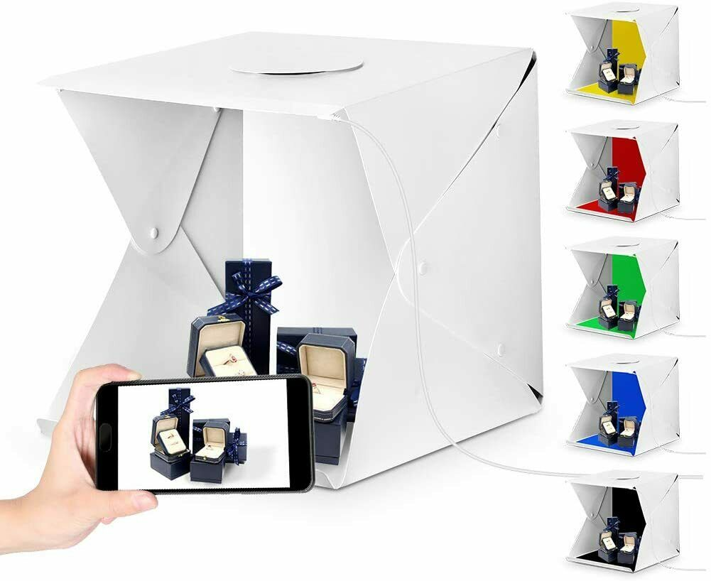 Photo Studio Pop Up Photo Box With 6 Back Drops, Cameras & Optics by Wrap My Phone