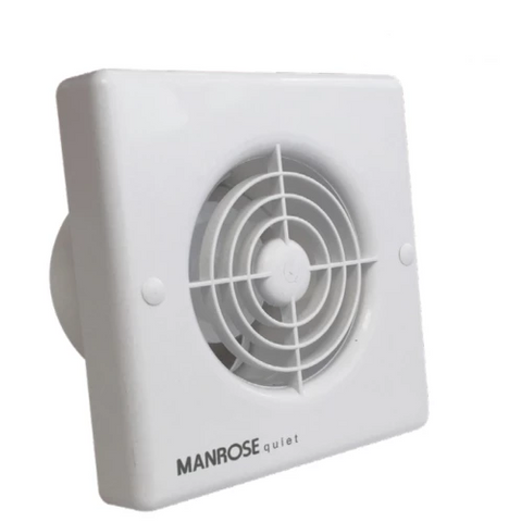 "Manrose IPX5 Quiet Fan QF100X5 Standard Timer Humidity Bathroom Fan 4""100mm"