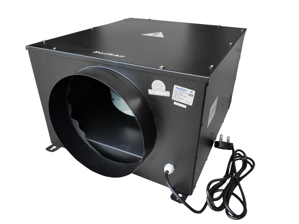 QBF Low Noise Silent Centrifugal Acoustic Box Fan upto 2150m3/hr 4 5 6 8 10 12""
