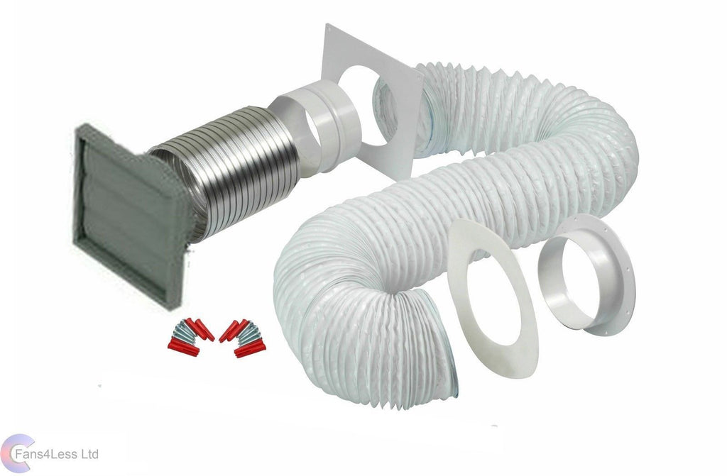 Manrose 100mm tumble dryer venting kit wall ducting ventilation fan kit 41703