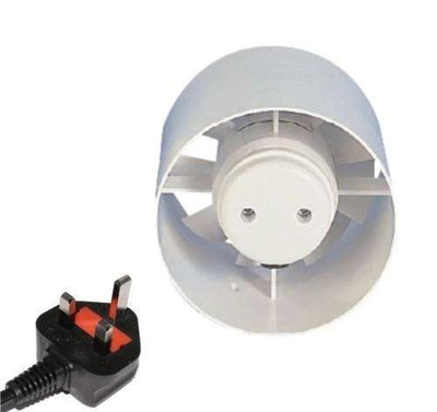 Manrose Inline Standard Model Bathroom Extractor Fan Plug Hydroponics 4