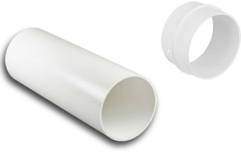 "4"" 5"" 6"" Round Plastic Duct Solid Duct Tube Pipe FULL LENGTHS"