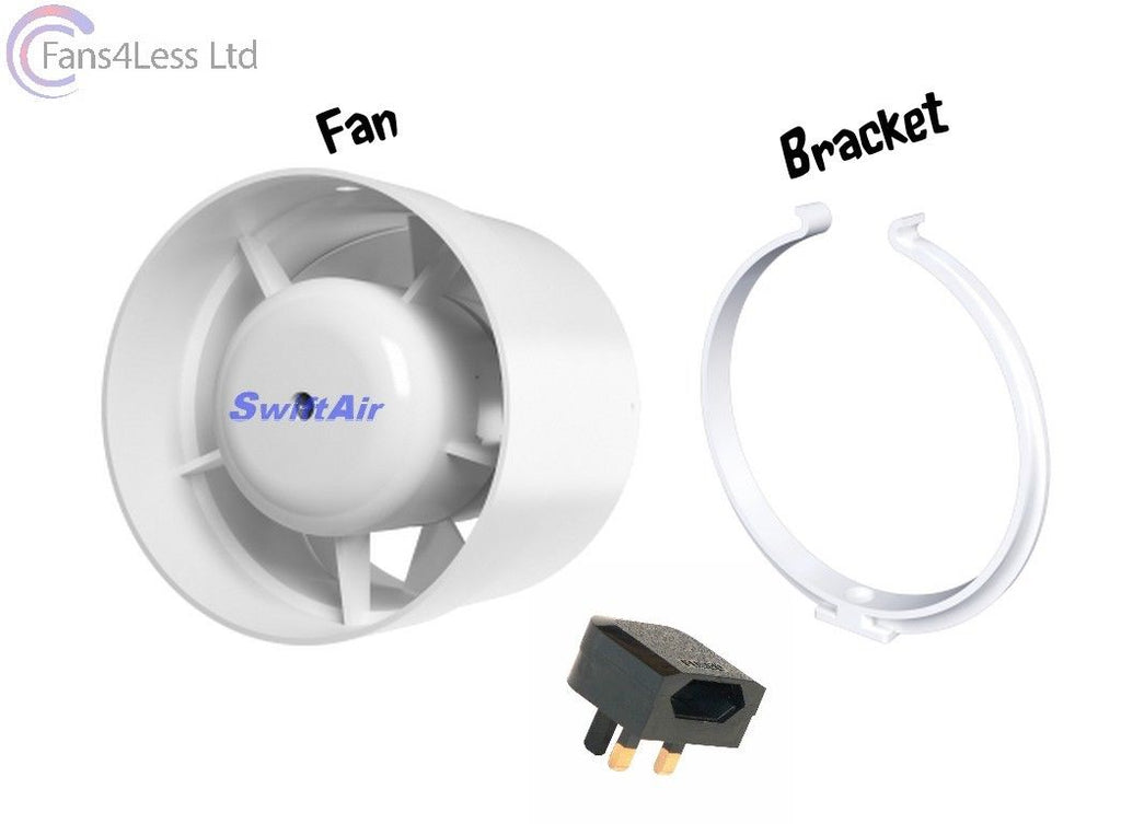 "4"" 5"" 6"" Inline Shower Standard Timer Bathroom Fan"