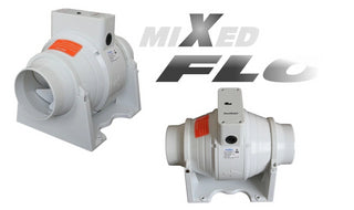 Mixed Flow Powerful Inline Bathroom Shower Loft Fan