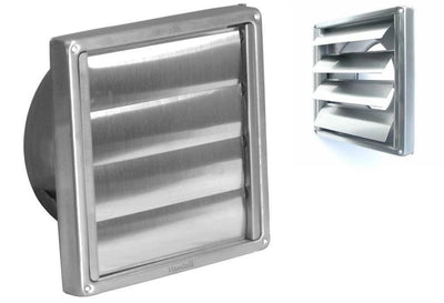 Gravity Grille Brush Steel External Wall Ducting Bathroom Extractor Fan 4