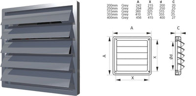 Air Grille Cover Gravity Flap Shutter 8