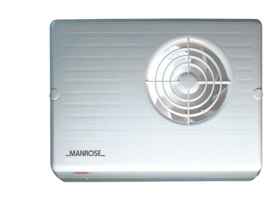 "Manrose CF200 4"" 100mm Std Timer Pullcord Humidity Wall Ceiling Bathroom Fan"