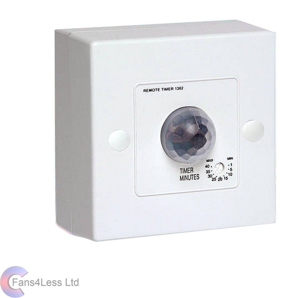 Manrose PIR + Timer 1362 Extractor Fan Condensation For Inline Fan Bathroom