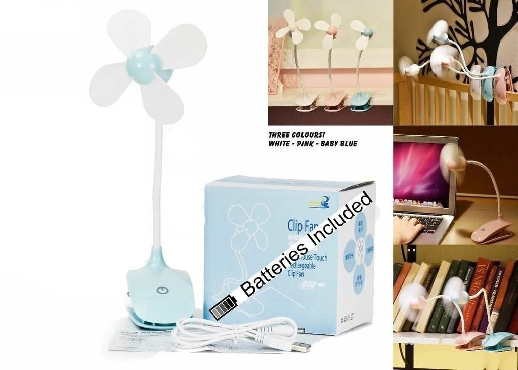 Portable Safe Blades Flexible Clip On Mini Fan for Baby Pram Stroller