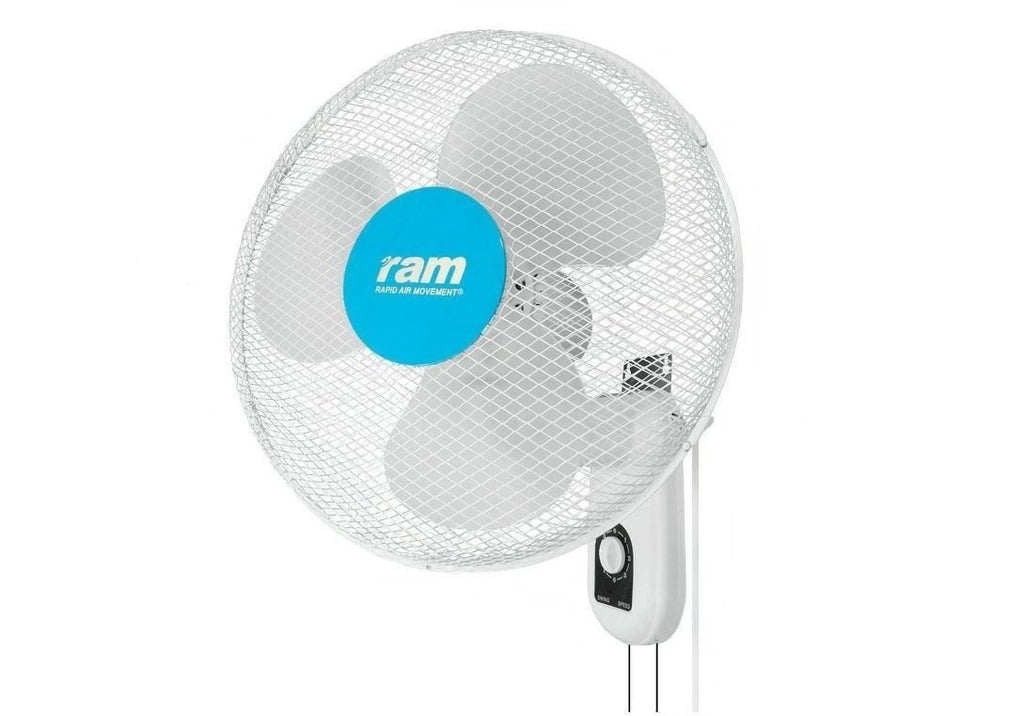 "Ram 16"" 400mm Wall Mounted Fan 3 Speed oscillate Hydroponics Cooling Fan"