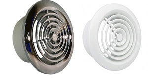 Internal Grille Round Chrome or White 4