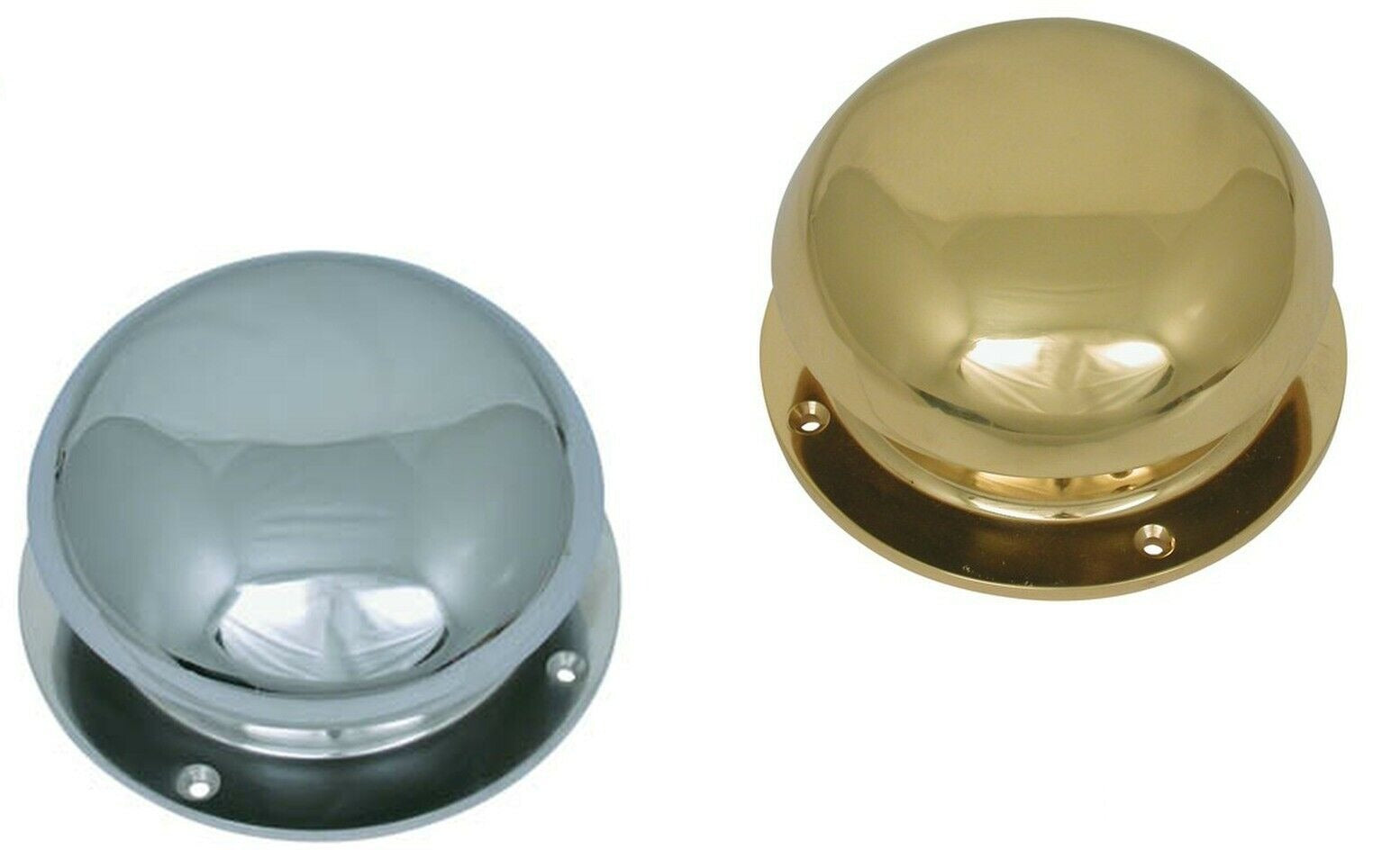 Polished Chrome Brass Bell Top Mushroom Vent Caravan Motorhome Marine Canal Boat