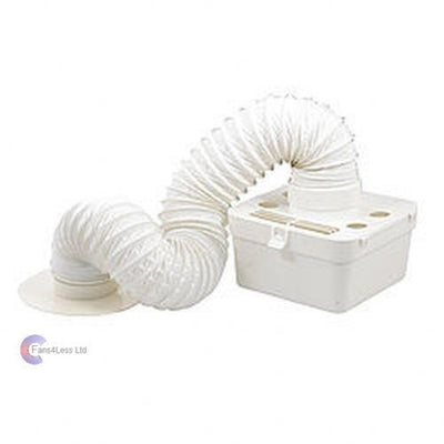 Manrose 100mm Indoor tumble dryer venting kit wall ducting ventilation fan 41704