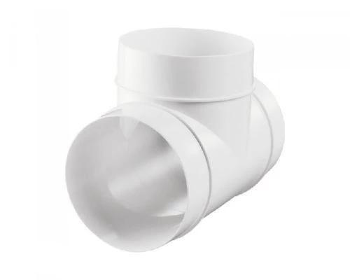 "PVC DUCTING T PIECE FOR FANS EXTRACTOR FANS 4"" 100mm, 5"" 125mm, 6"" 150mm"