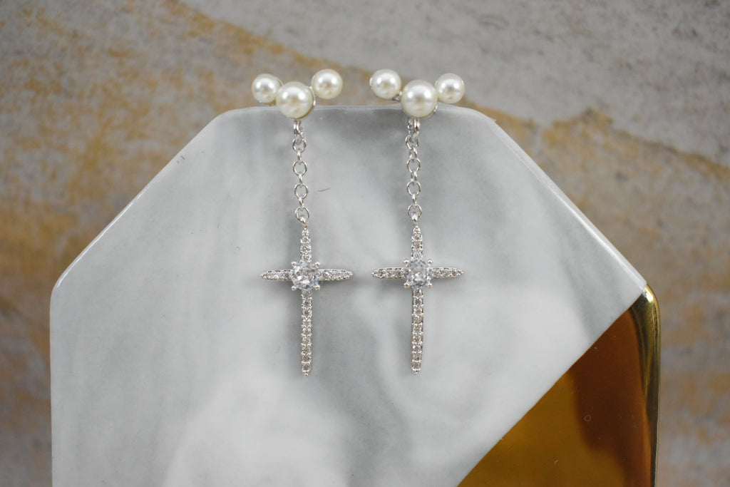 Aretes Little Cross