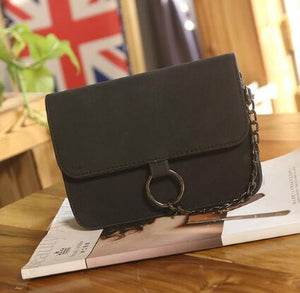 Leather Small Flap Women Crossbody Bag Chain Messenger Shoulder Bag Lady Female Handbags