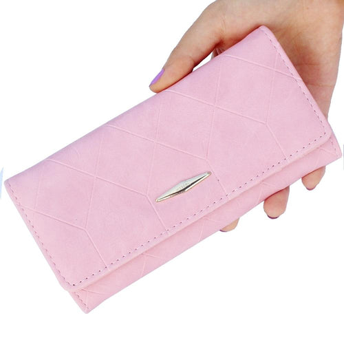 Ling grid embossed wallet purse women,Ladies clutch long purse,Female Hasp wallet coin purse card holder Carteira