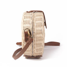 Load image into Gallery viewer, Straw Bag Rattan Beach Handbag  Crossbody Handmade Kintted Shoulder Bags