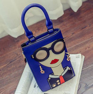Woman Fashion Pattern Earrings Decorated Female Totes Ladies Shoulder Bag