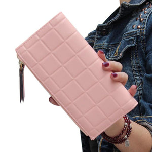 Fashion Women Leather Clutch Wallet Long Card Holder Case Purse Handbag PK