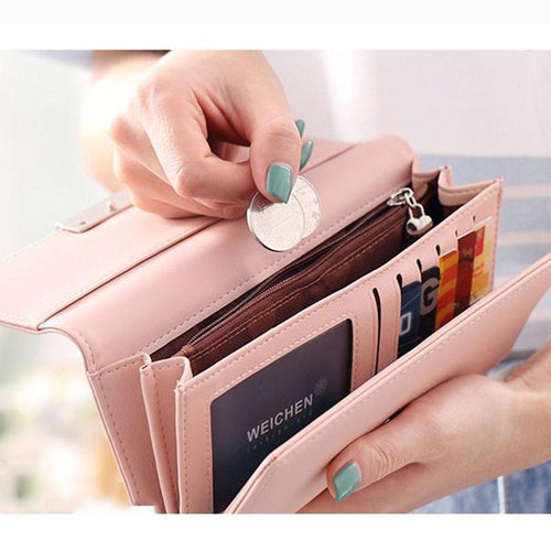 Fashion Women's Purse Women Wallet Long Passport Female Coin Clutch Card Holder Luxury Designer Simple Wallets Female Purses