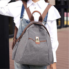 Load image into Gallery viewer, 2017 new hot men's canvas ladies retro casual shoulder bag travel backpack high school student bag