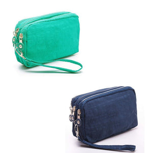 banabanma Lady Wallets and purses Women Wallet Package 3 Layers Handbag Cross Section Clutch Bag Large Capacity Best Gift