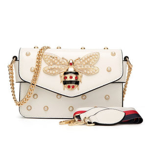 Luxury Handbags Women Bags Designer Vintage Small Little Bee Flap Bag