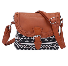 Load image into Gallery viewer, Vintage Fabric Boho Aztec Tribal Female Handbag Women Crossbody Bag Ladies Shoulder Bag with PU Leather Messenger Bag