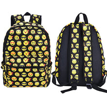 Load image into Gallery viewer, Fashion Boys Girls Smiling Face Emoji Backpack Shoulders Bag Funny Schoolbag