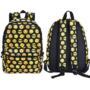 Fashion Boys Girls Smiling Face Emoji Backpack Shoulders Bag Funny Schoolbag