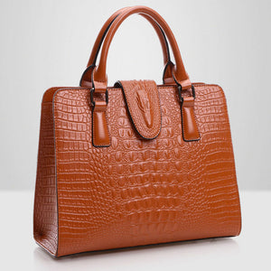 Hot Genuine leather bag ladies crocodile pattern Women messenger bags handbags women famous brand designer high quality