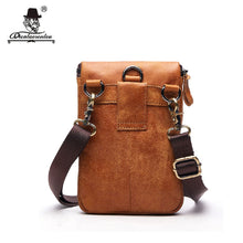 Load image into Gallery viewer, Brand Small Leather Man Bag Genuine Cowhide Leather Bags Shoulder Belt Bag Vintage Men Messenger Bags