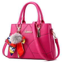 Load image into Gallery viewer, Herald Fashion Brand Tassel Women's Handbags PU Leather Luxury Female Top-Handle Tote  Women Shoulder Bags