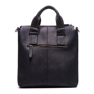 Male Genuine Crazy Horse Leather Handbags Retro Hand Bags Cowhide Mens Leather Shoulder Bag Crossbody Bags for Men