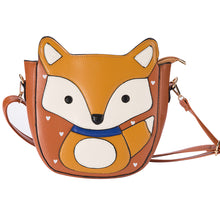 Load image into Gallery viewer, Cute Cartoon Fox Shoulder Bag Zipper Women Faux Leather Crossbody Bag Satchel