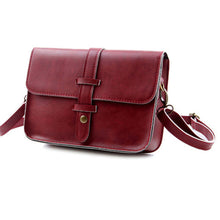 Load image into Gallery viewer, Retro Women Faux Leather Button Satchel Handbag Crossbody Shoulder Messenger Bag