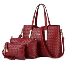 Load image into Gallery viewer, Women Messenger Bags Handbag 3 pieces Set PU Leather Composite Bag