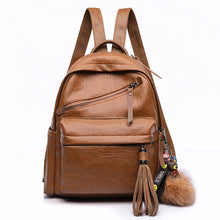 Load image into Gallery viewer, Travel Backpack Women Female Rucksack Leisure Student School bag Soft PU Leather AS-004