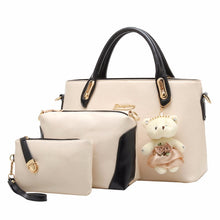 Load image into Gallery viewer, PU Leather Women Bags 3pcs Set Handbags Purse Cultch Composite Messenger bag Leisure Tote BB-002