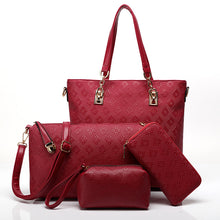 Load image into Gallery viewer, Women Bag Luxury Handbags Shoulder Patchwork Crossbody Messenger 4 Pieces BB-008