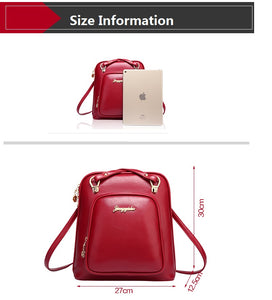Women backpacks fashion PU leather shoulder bag small backpack School Bags BB-020