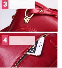 Load image into Gallery viewer, Women backpacks fashion PU leather shoulder bag small backpack School Bags BB-020