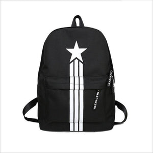 CHAOSHOU New computer bag nylon bag couple backpack five-pointed star men's backpack