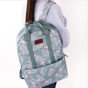 2018 new sports backpack bag Multifunctional outdoor waterproof backpack flamingo student bag backpack